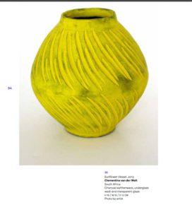 Sunflower Vessel by Clementina van der Walt