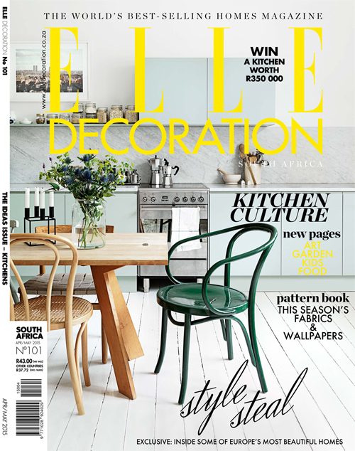 April-May Elle Deco cover
