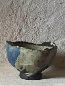 Winterware tea bowl in Wabi Sabi colours