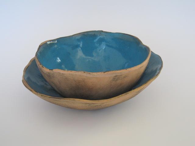 Turquoise nestling bowls - May 2013