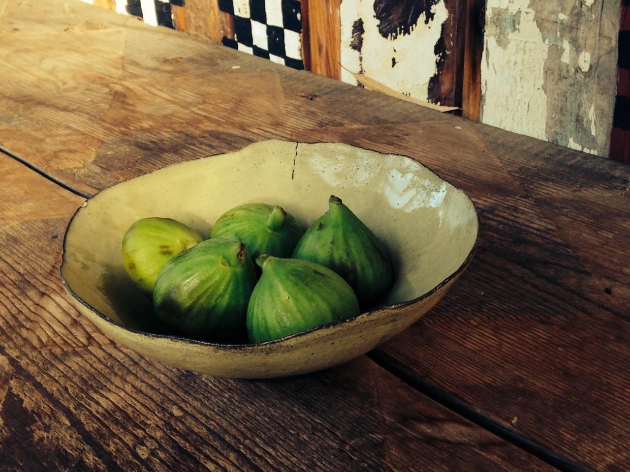 clementina ceramics fresh figs yellow bowl