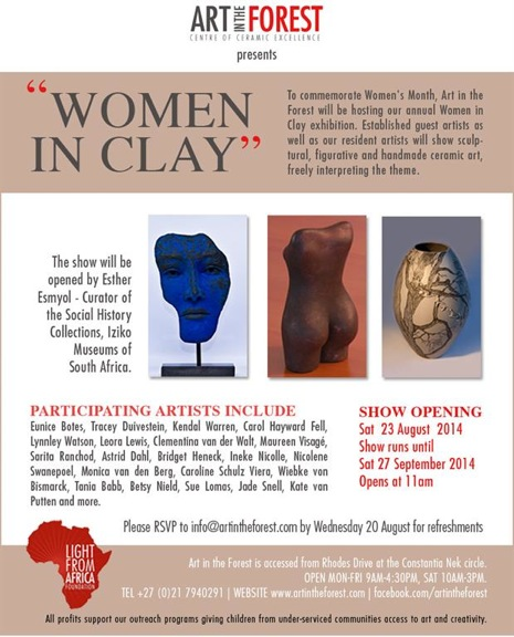 Clementina exhibits at Women in Clay Exhibition| Art in the Forest