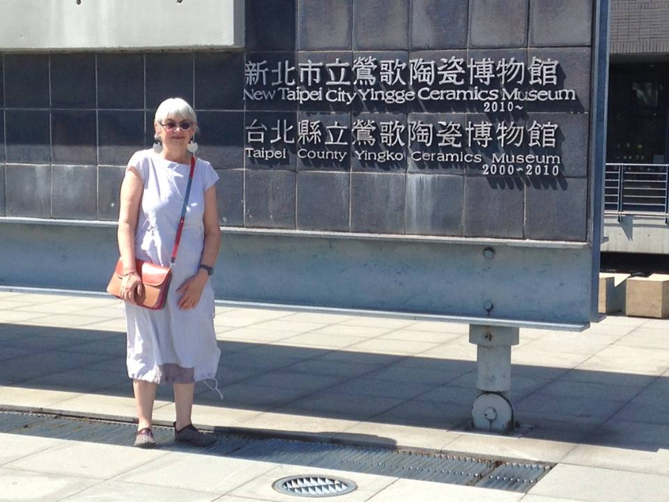 Clementina outside the Yingge Ceramic Museum in Taipei