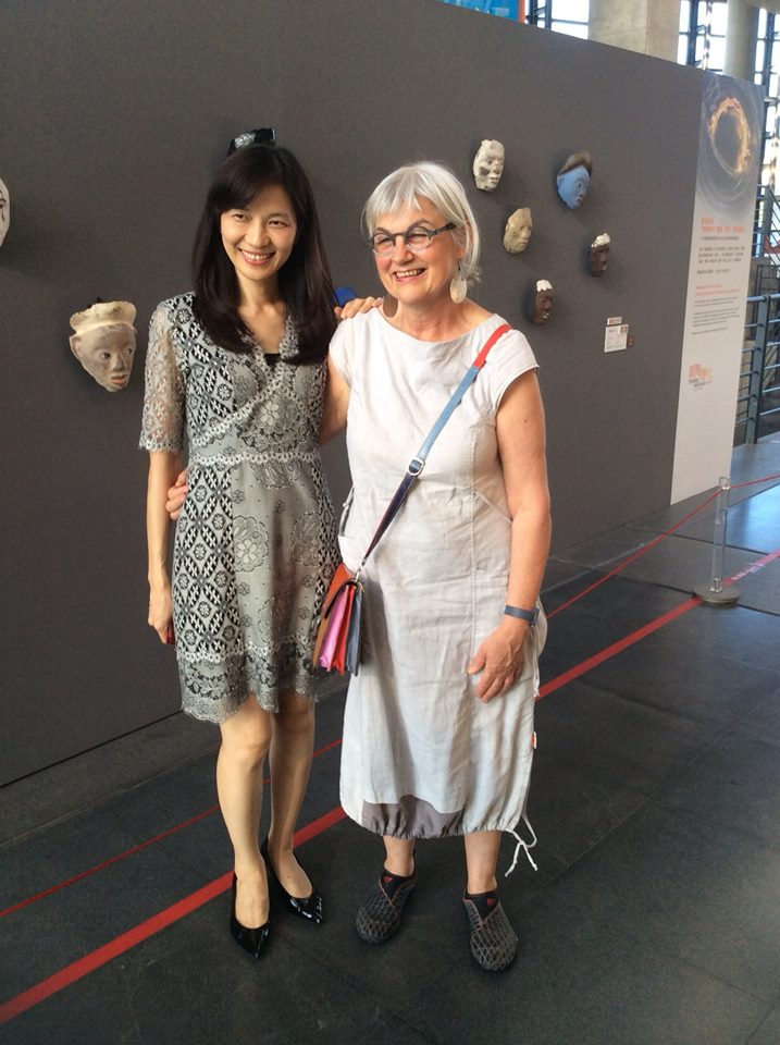 Clementina and the directod of the Museum, Chen Chun-Lan