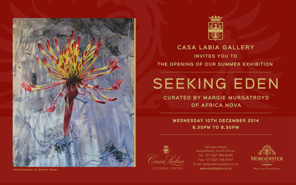 Invitation to Seeking Eden - A Group Exhibition at Casa Labia