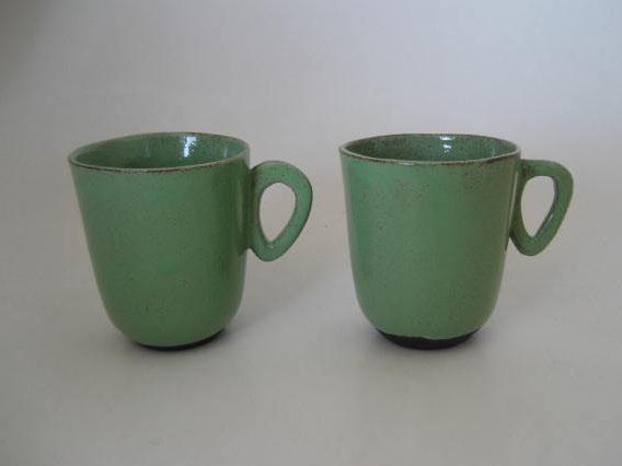 Wabi Sabi esspresso cups green mint
